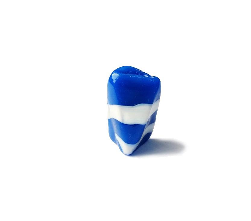 Firma 040 - Murano Facetado Azul/Branco (G)
