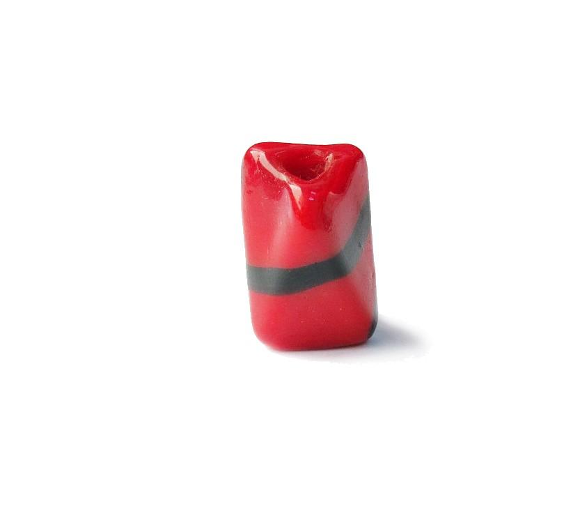 Firma 041 - Murano Facetado Vermelho/Preto (G)