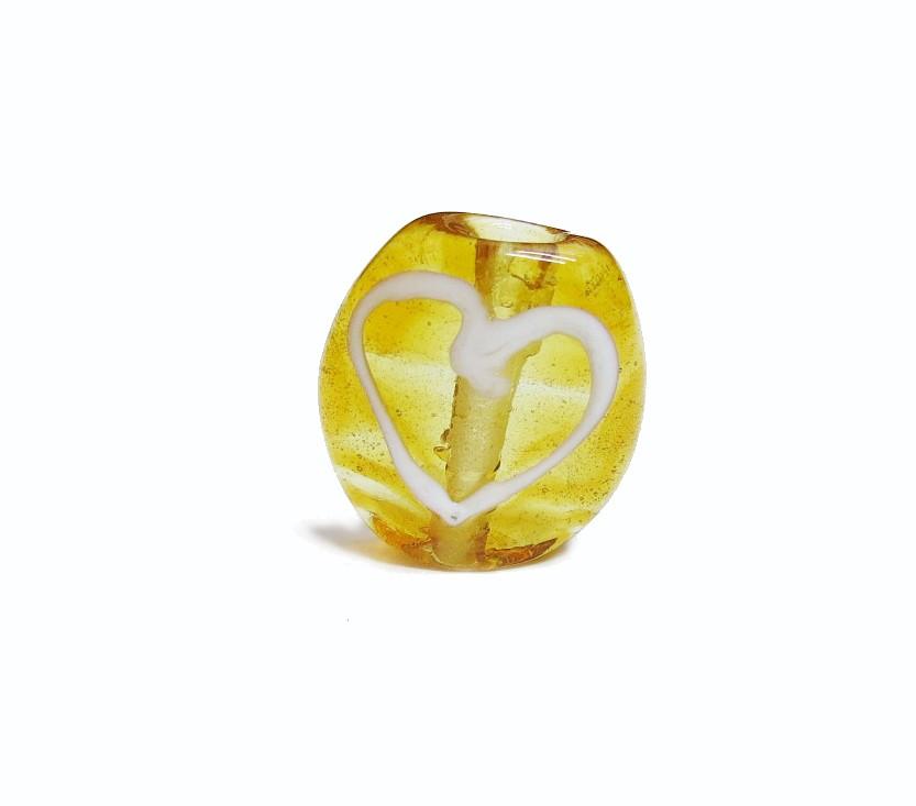 Firma 043 - Murano Circular Caramelo/Coração Branco