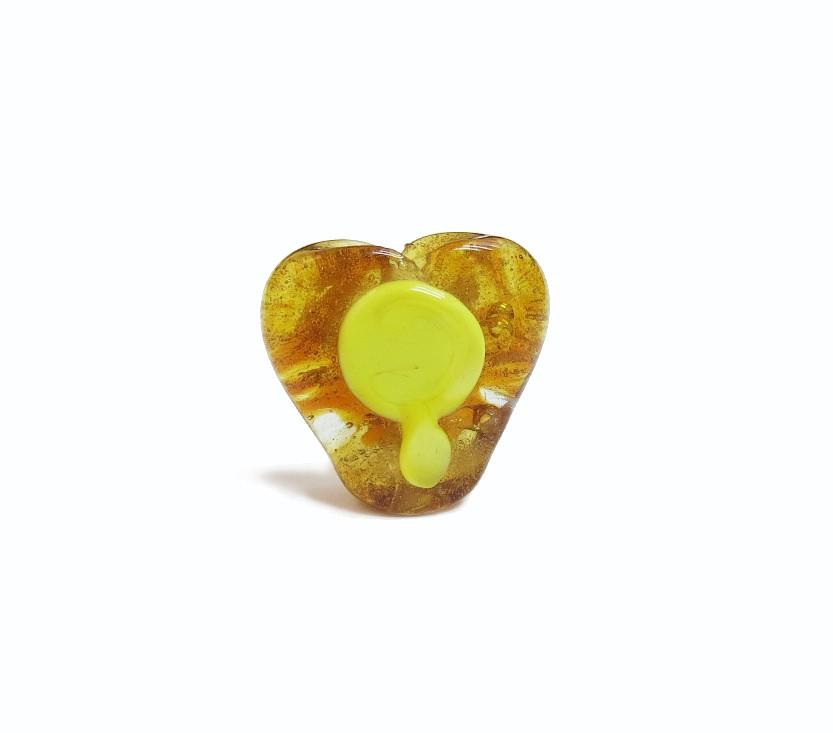 Firma 045 - Murano Coração Caramelo/Espelho Amarelo