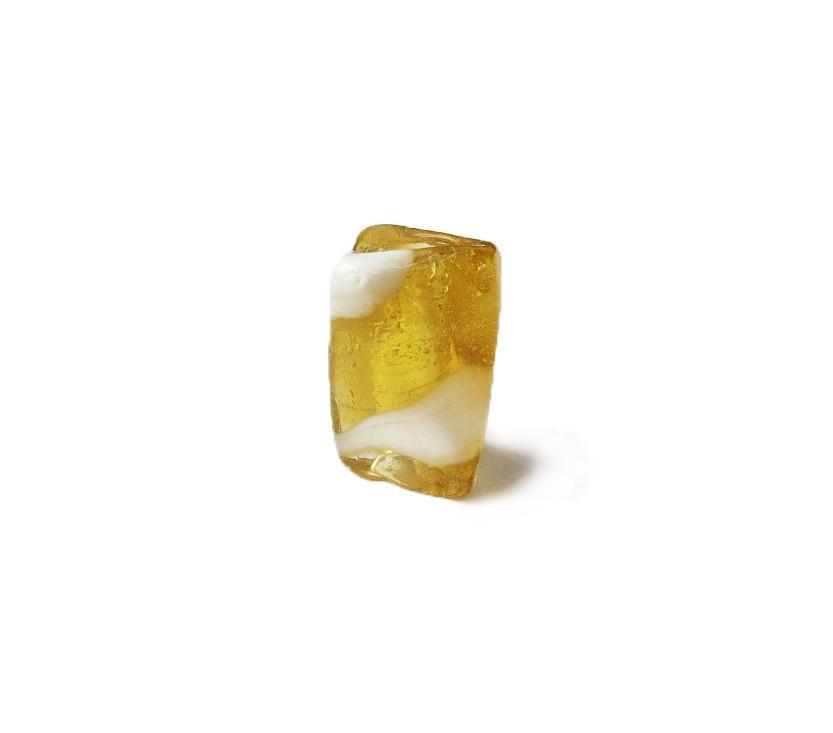 Firma 046 - Murano Facetado Amarelo Transparente/Branco (G)