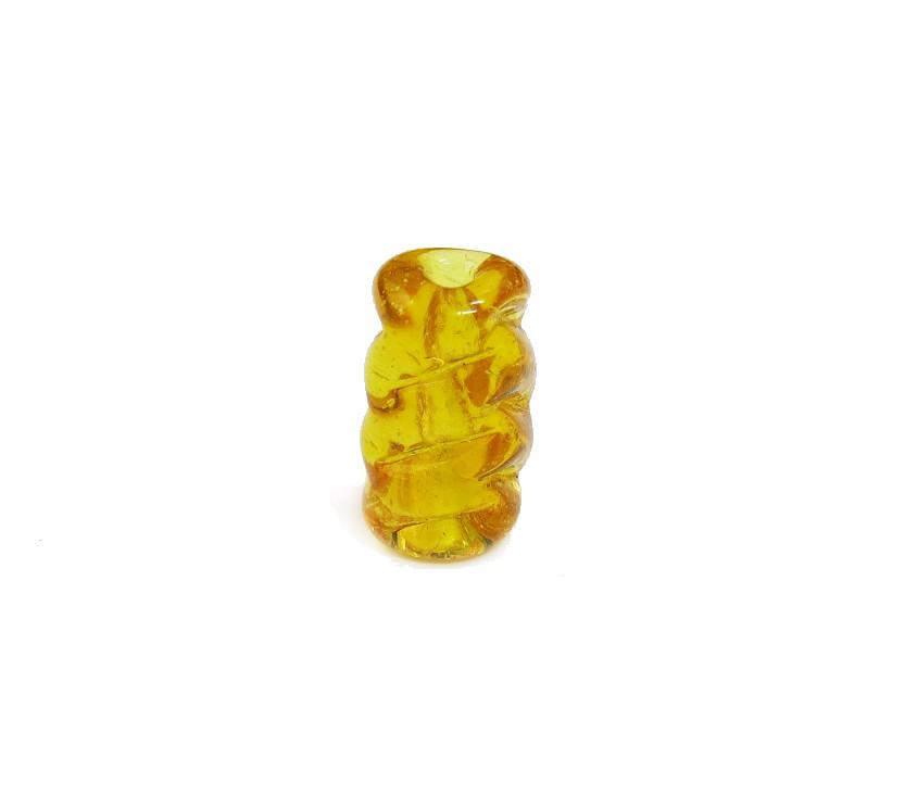 Firma 047 - Murano Amarelo Torcido Transparente (M)