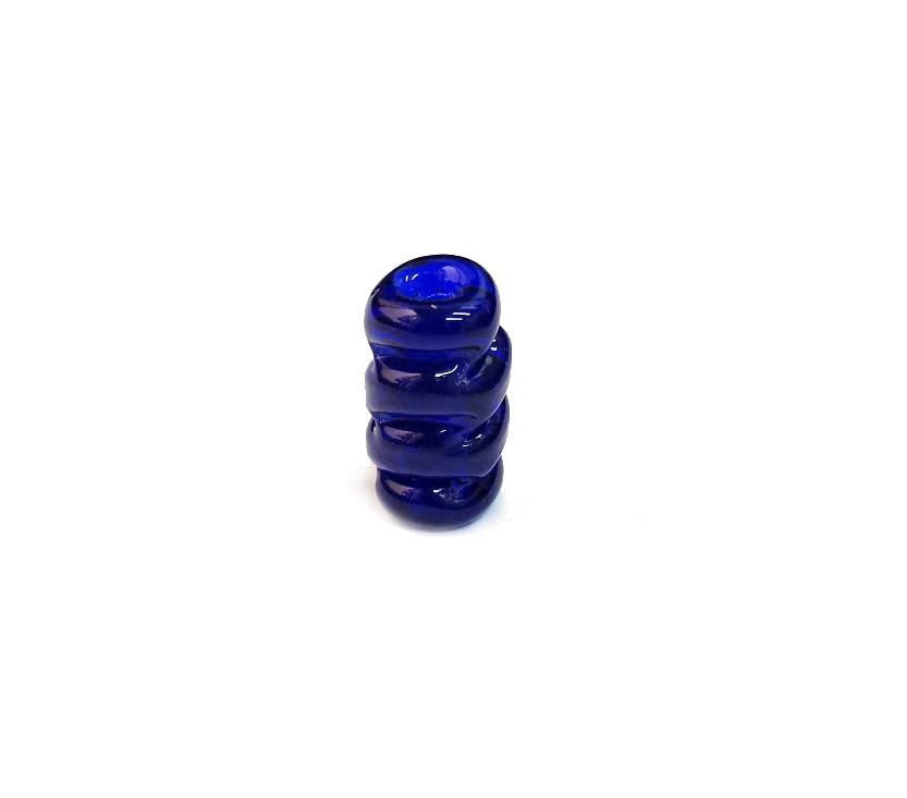 Firma 050 - Murano Azul Royal Torcido Transparente (M)