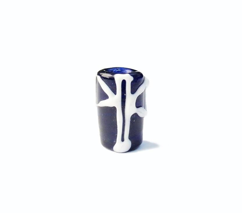 Firma 052 - Murano Azul Royal Transparente/Oxê Branco