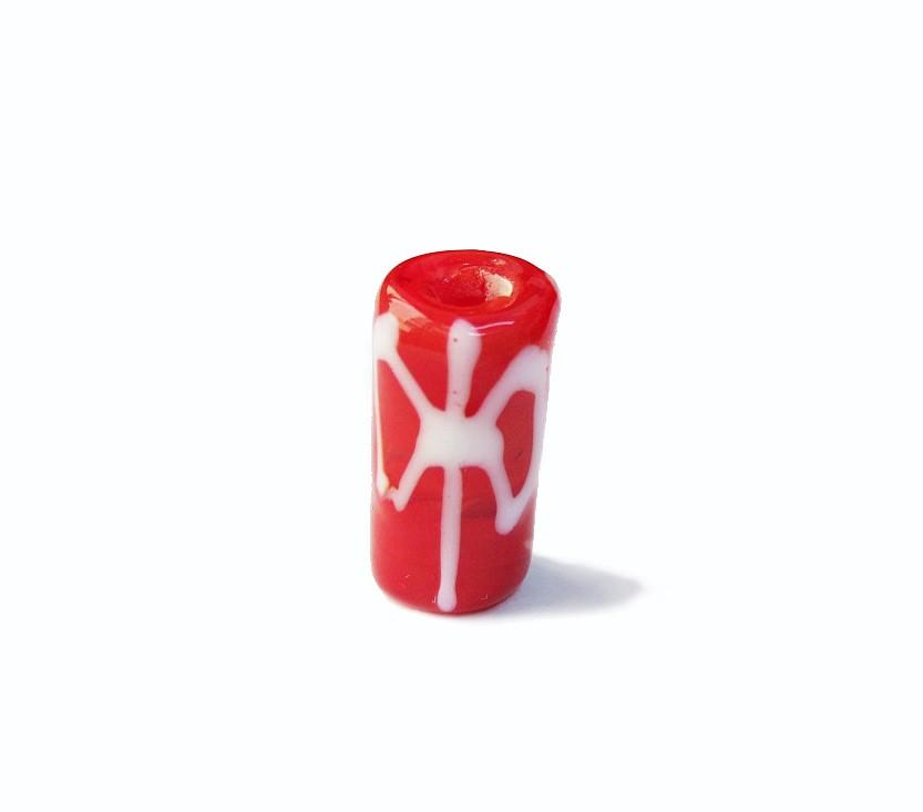 Firma 054 - Murano Vermelho/Oxê Branco