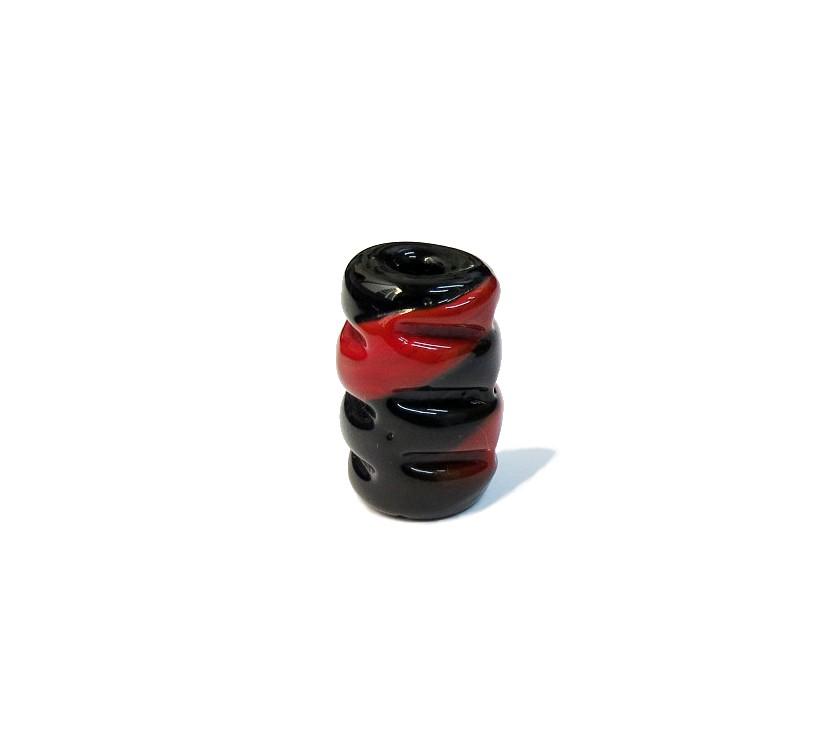Firma 055 - Murano Torcido Preto/Vermelho (G)