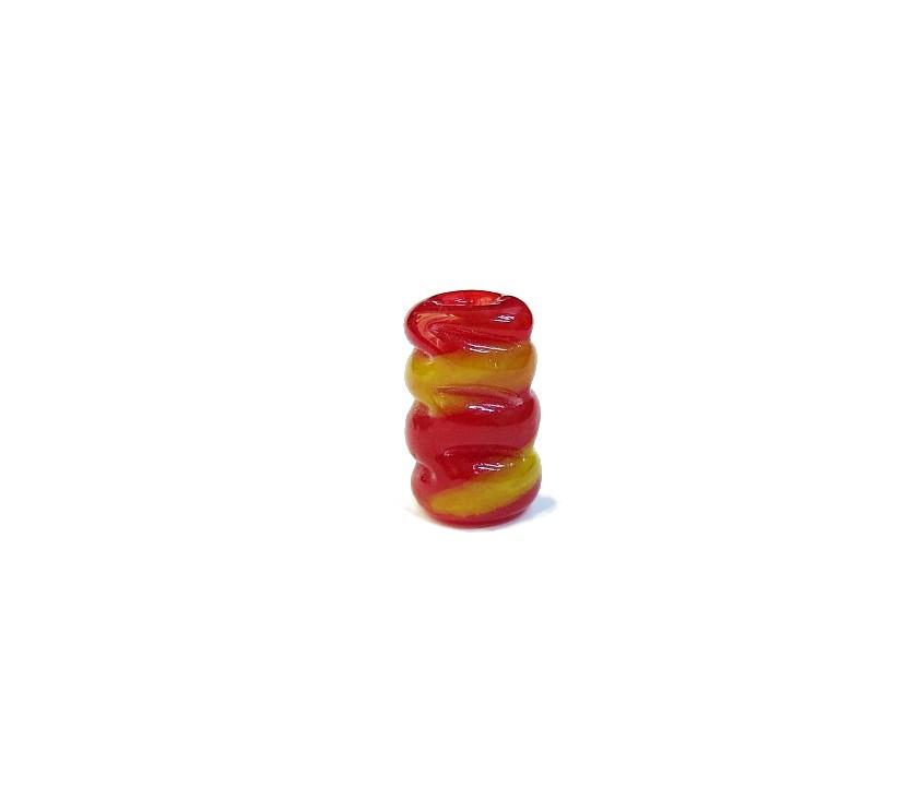 Firma 057 - Murano Torcido Vermelho Transparente/Amarelo (G)