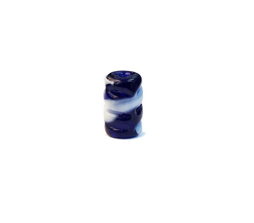 Firma 062 - Murano Torcido Azul Royal Transparente/Branco (G)