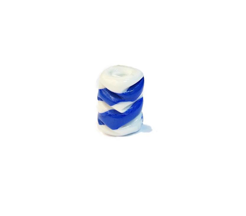 Firma 065 - Murano Torcido Branco/Azul (G)