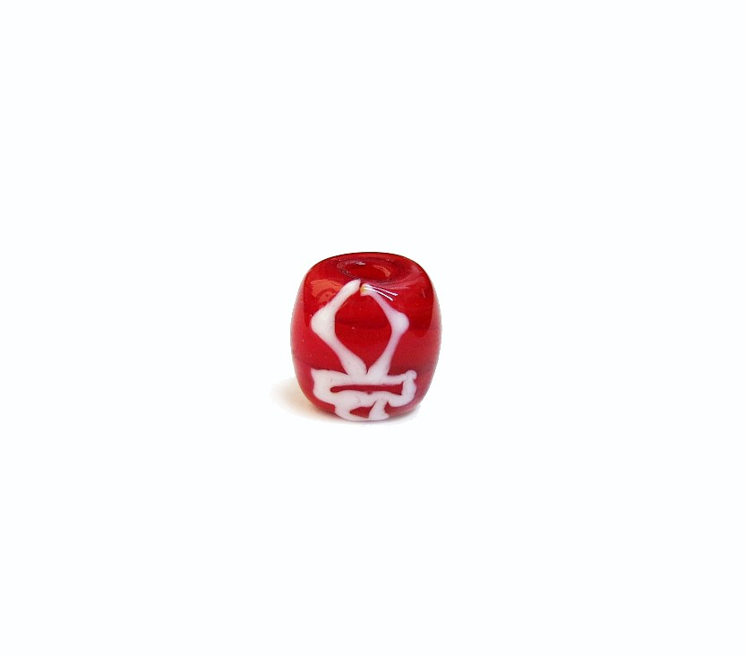 Firma 070 - Murano Bola Vermelho/Espada Branca