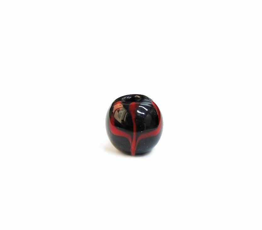Firma 071 - Murano Bola Preto/Tridente Vermelho Exú