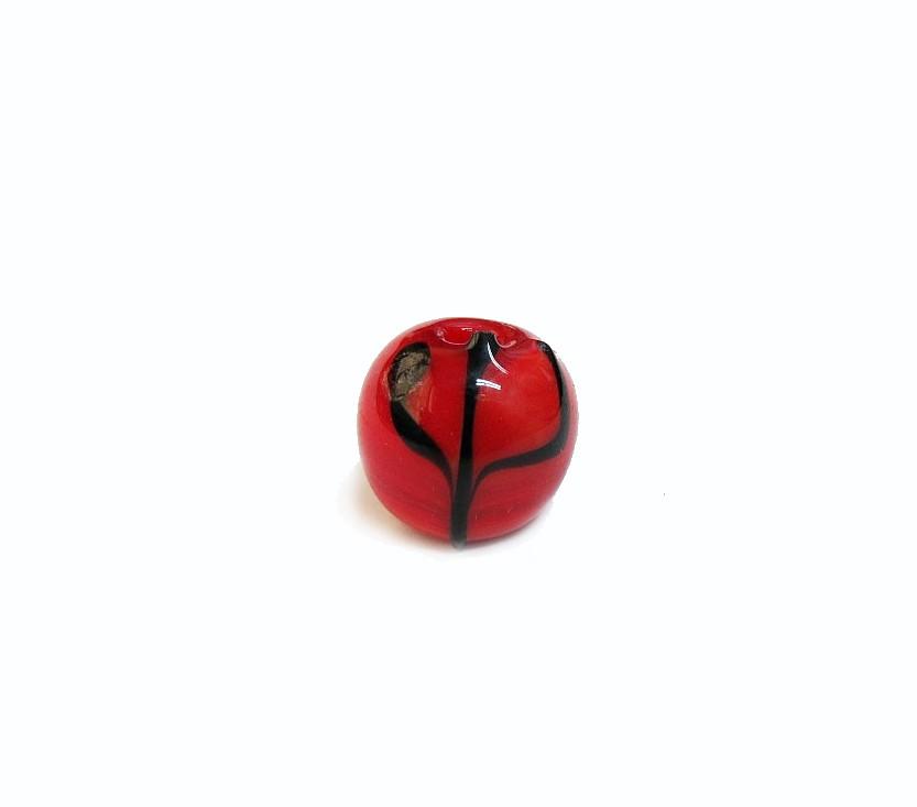 Firma 072 - Murano Bola Vermelho/Tridente Preto Exú