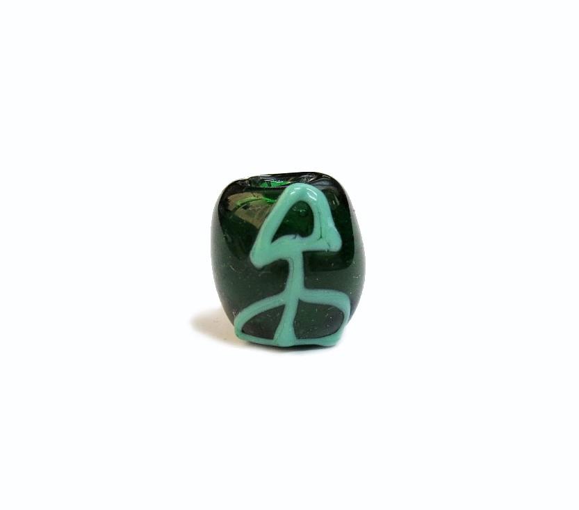 Firma 073 - Murano Bola Verde Transparente/Ofá Verde