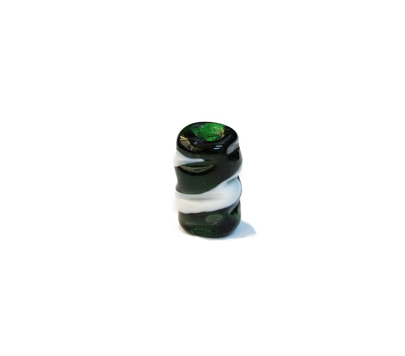 Firma 073 - Murano Torcido Verde Transparente/Branco (G)