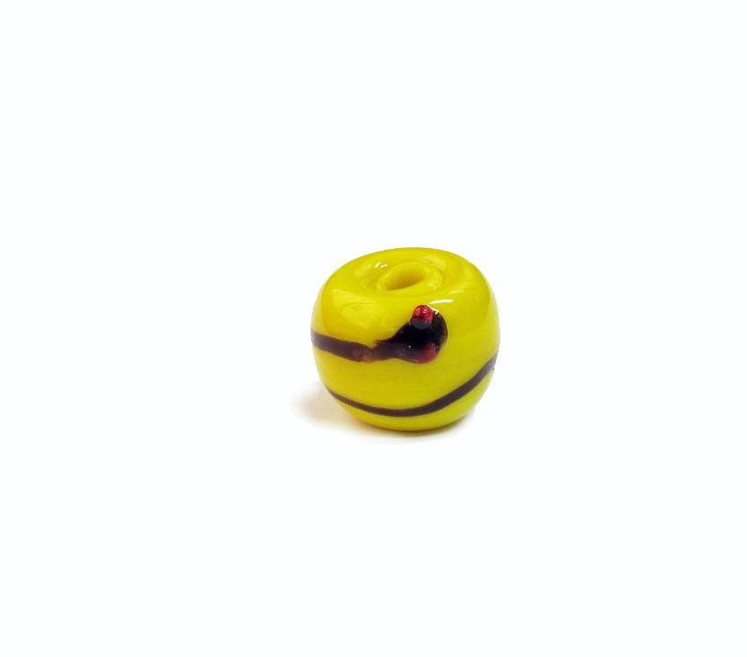 Firma 076 - Murano Bola Amarelo/Cobra Preta Oxumaré
