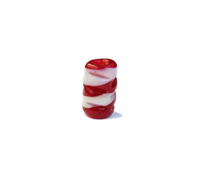 Firma 076 - Murano Torcido Vermelho Transparente/Branco (G)