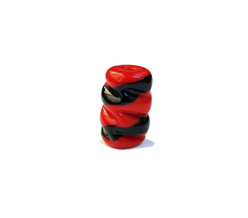 Firma 081 - Murano Torcido Vermelho/Preto (G)
