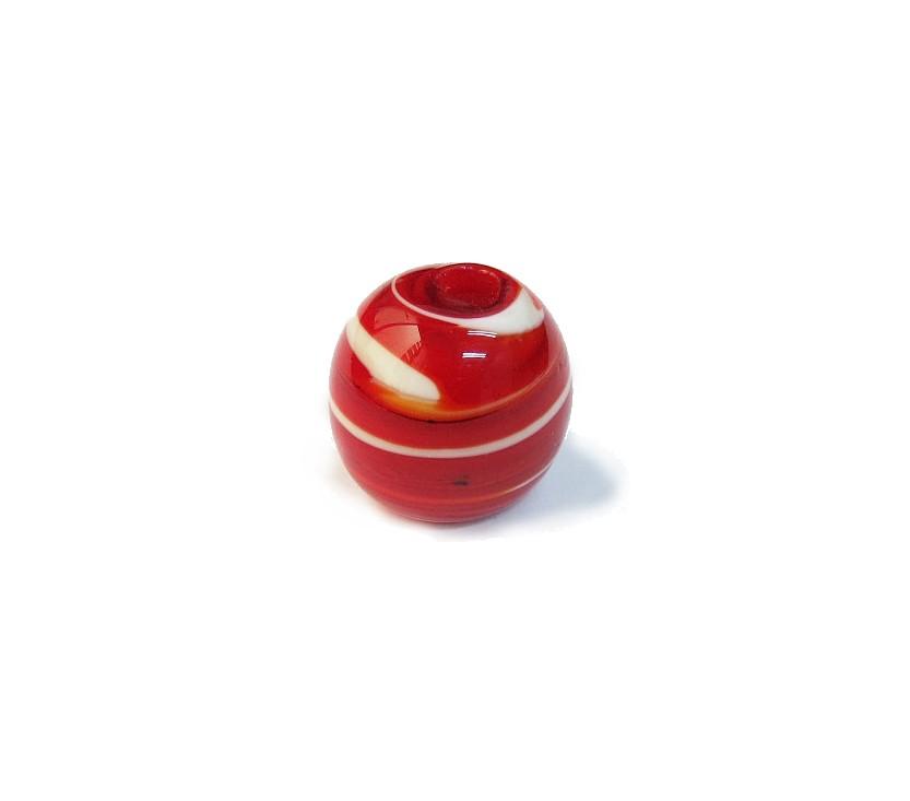 Firma 113 - Murano Bola Vermelho/Branco (G)