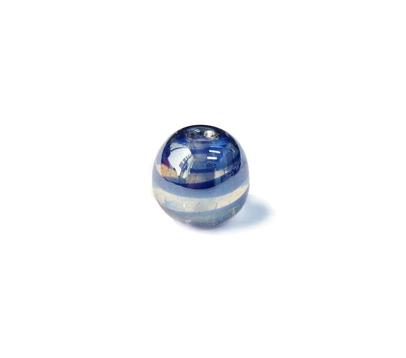 Firma 117 - Murano Bola Irizado Azul Royal (G)