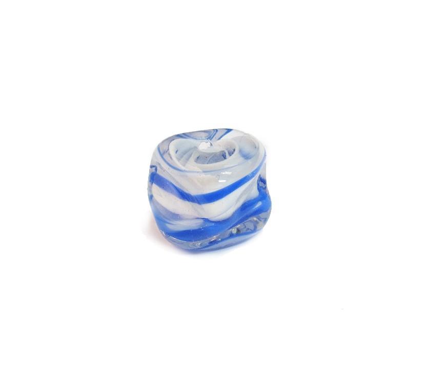 Firma 127 - Murano Meteoro Irizado Branco/Azul (G)