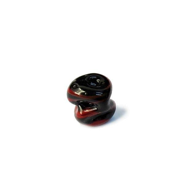 Firma 141 - Murano Preto/Vermelho Meteoro