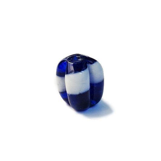 Firma 176 - Murano Azul Royal/Branco Transparente Pitanga (M)
