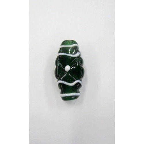 Firma murano achatado verde transparente
