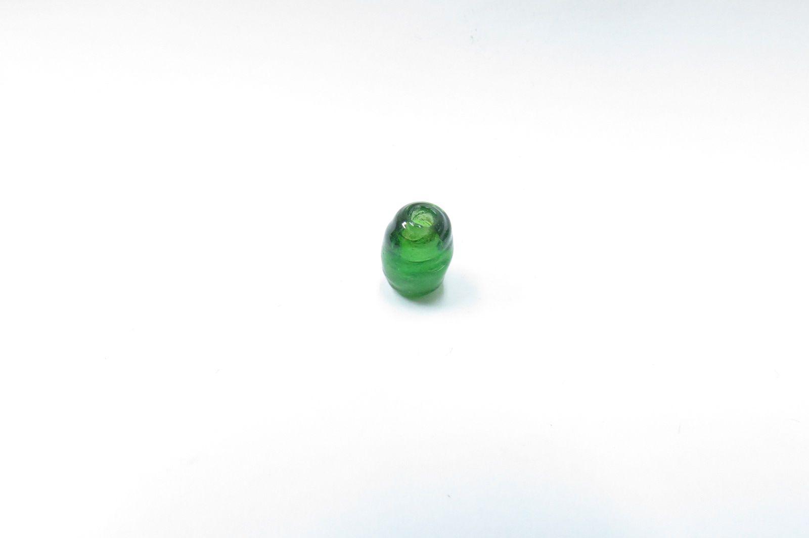 Firma murano  azeitona verde transparente - P