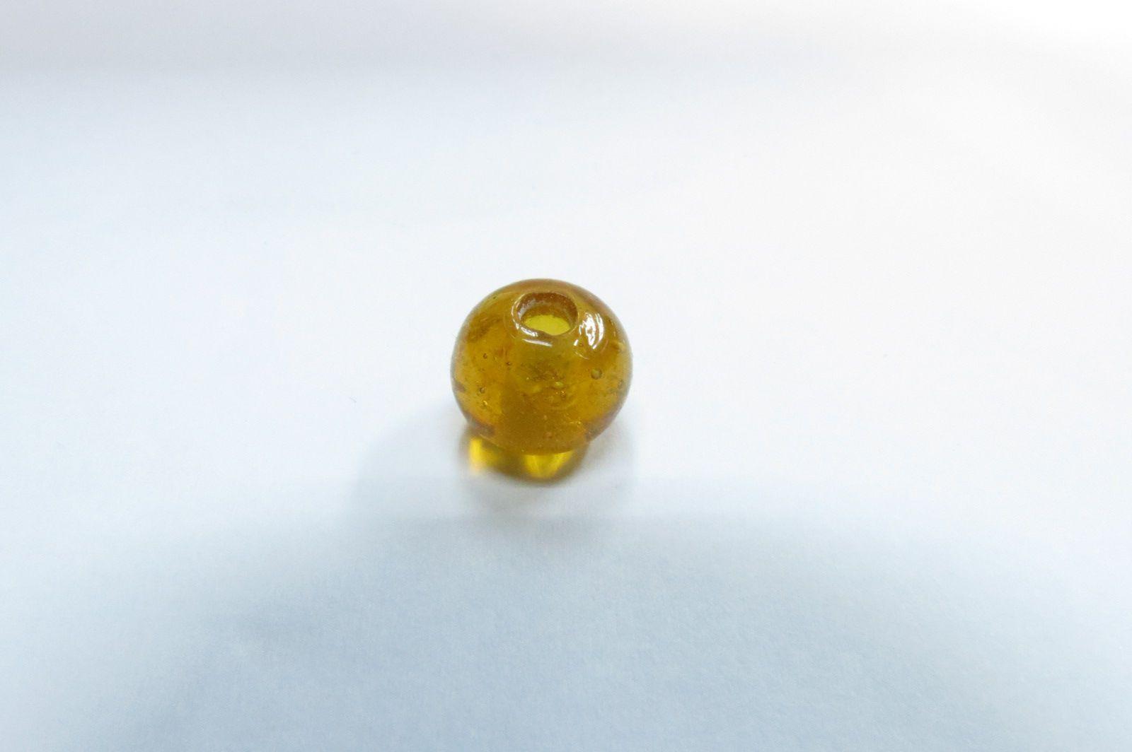 Firma murano esfera amarelo transparente - P