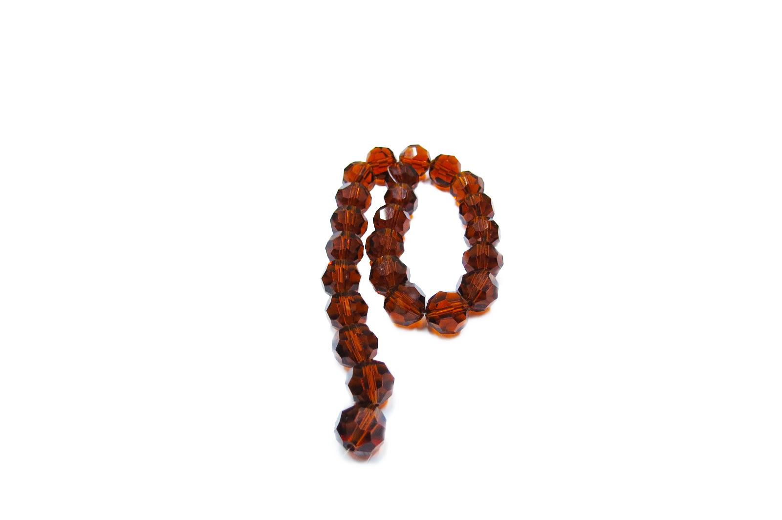Marrom Transparente Redondo (14 mm)
