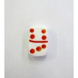 Firma 010 - Murano Dominó Branco/Vermelho