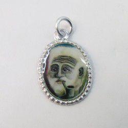 Pingente Medalha de Preto Velho – 162