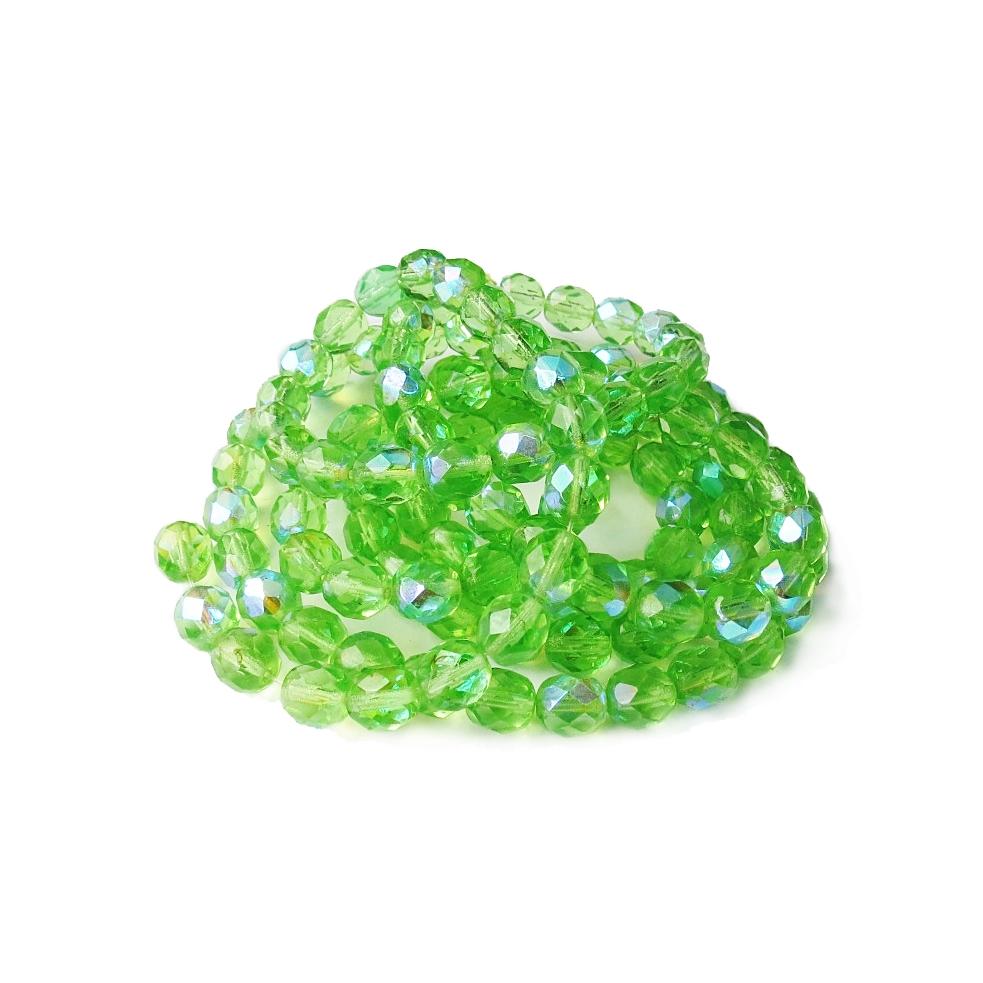 Verde Claro Boreal Transparente Redondo (08 mm)