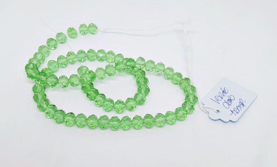 Verde Claro Transparente Achatado (08 mm)