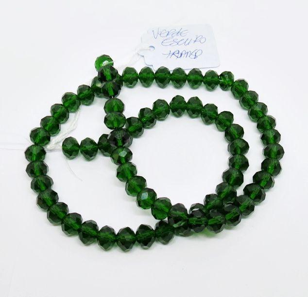 Verde Escuro Transparente Achatado (08 mm)