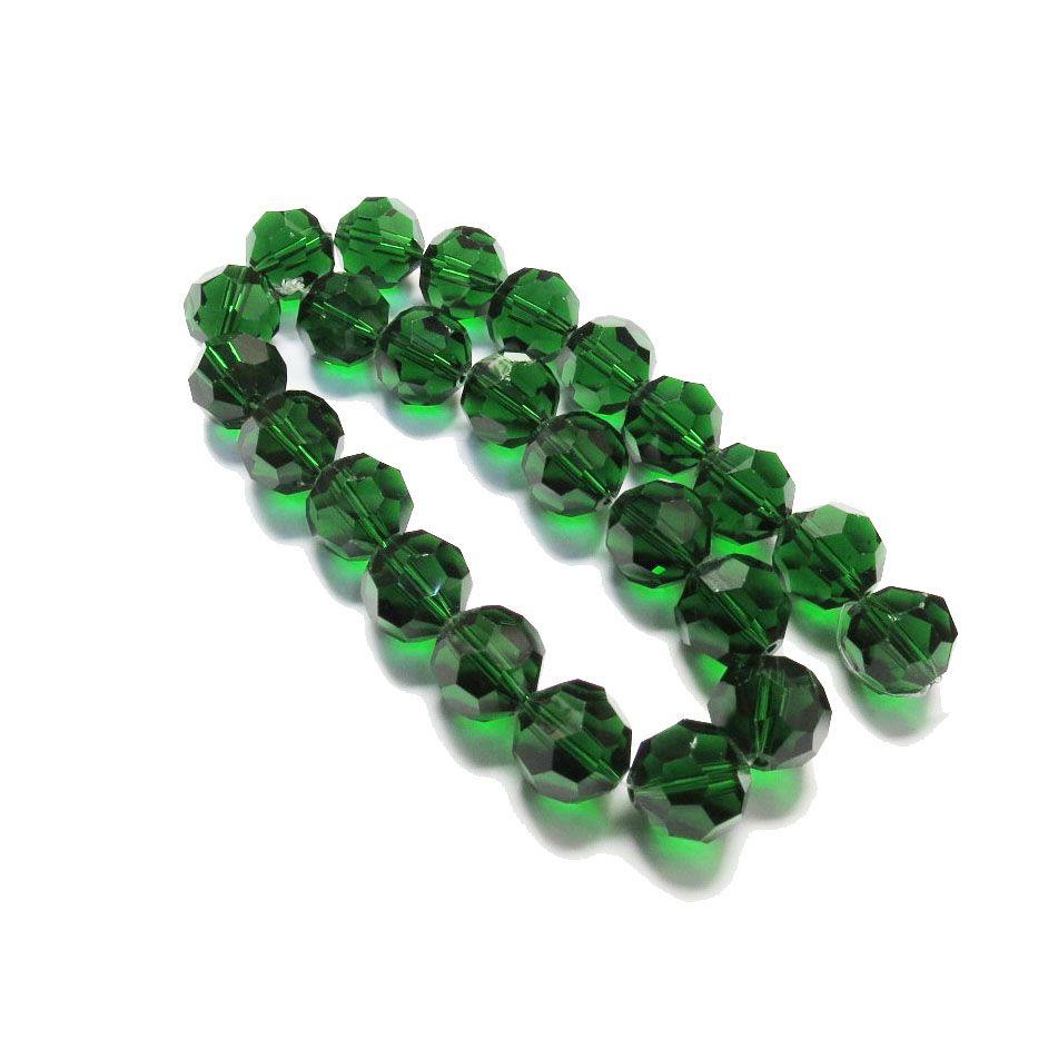 Verde Escuro Transparente Redondo (14 mm)
