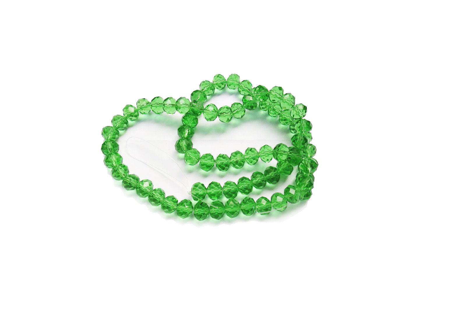Verde Transparente Achatado (10 mm)