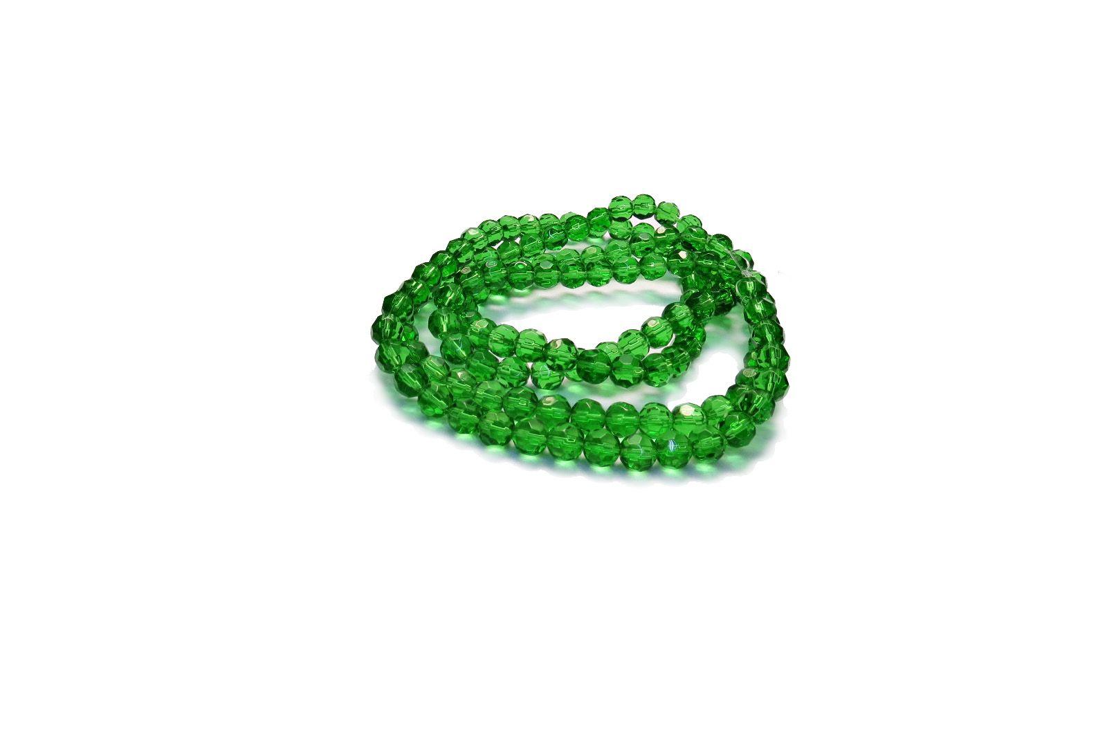 Verde Transparente Redondo (08 mm)