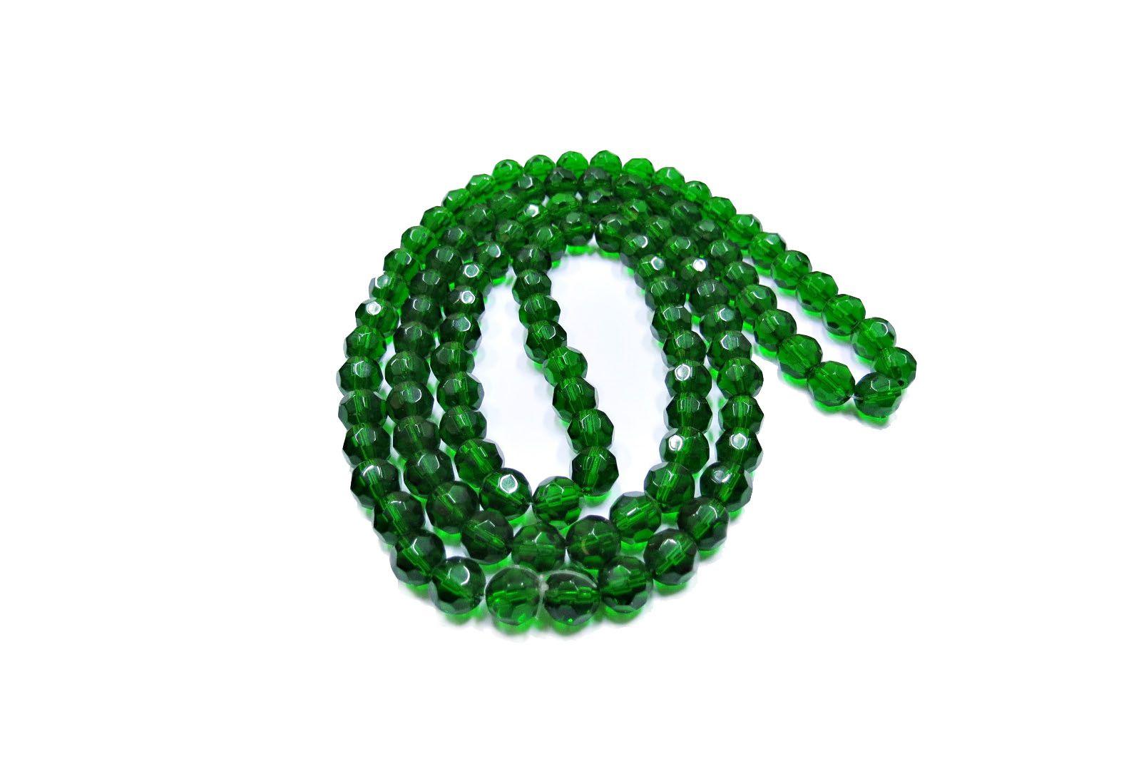 Verde Transparente Redondo (10 mm)