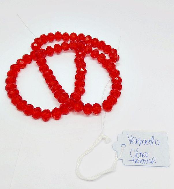Vermelho Claro Transparente Achatado (08 mm)