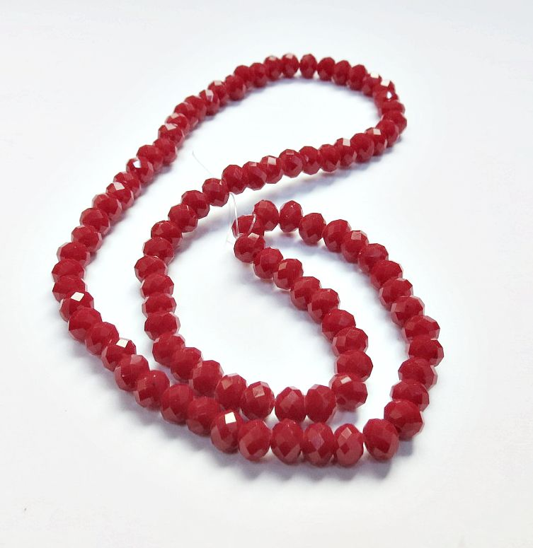 Vermelho Leitoso Achatado (06 mm)