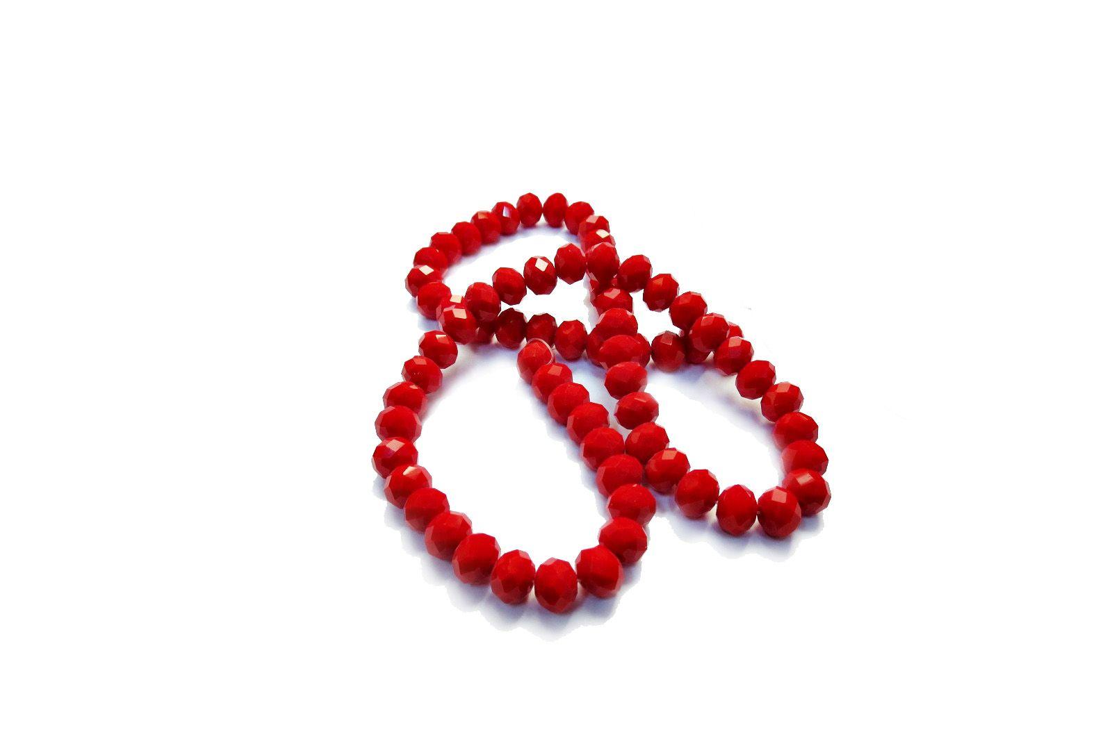 Vermelho Leitoso Achatado (10 mm)