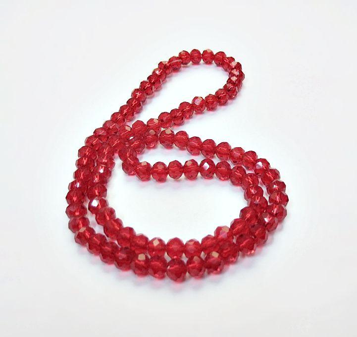 Vermelho Transparente Achatado (06 mm)