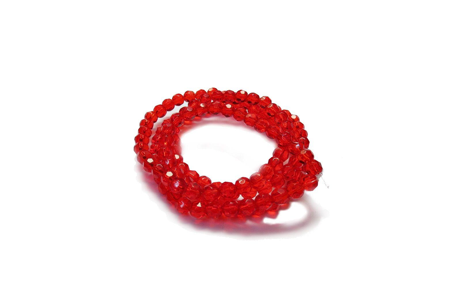 Vermelho Transparente Redondo (08 mm)