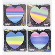 Bloco Adesivo Coração Arco Iris