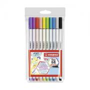 Brush Pen STABILO 68 C/10 Cores