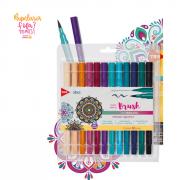 Brush Pen TRIS Vibes Sketch BOHO CHIC 12 Cores