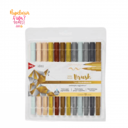 Brush Pen TRIS Vibes Sketch Tons Escandinavos 12 Cores