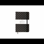 Caderneta Ciceros Preto e Branco Sem Pauta Listras