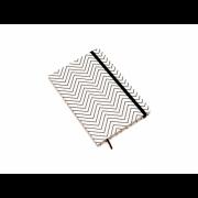 Caderneta Ciceros Preto e Branco Sem Pauta ZigZag Cicero